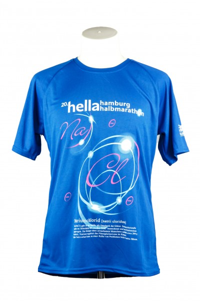 "20. hella hamburg halbmarathon Funktionsshirt ""Natriumchlorid"""