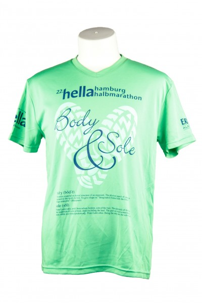 "22. hella hamburg halbmarathon Funktionsshirt ""Body & Sole"""